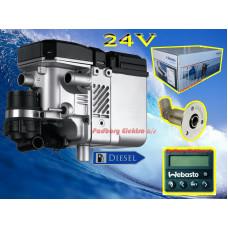 9028080C Webasto Thermo Pro 50 Eco Marine diesel 24 volt 5 kw. bådvarmer fyr Kompletsæt.