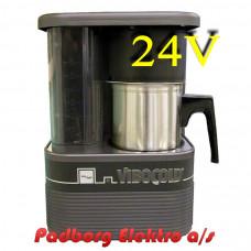 Kaffemaskine Vibocold KM6-2 En 6-koppers >>Bemærk 24 volt DC<< kaffebrygger.