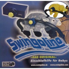 Swingolino den originale barnevogns vugger model med gul and.