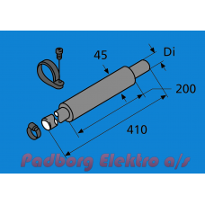 1313514A - Indsugningslyddæmper Ø22 mm. L410 mm.
