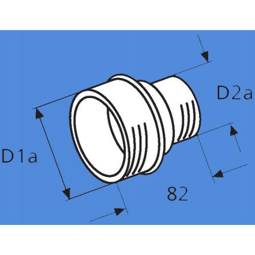 1319477A - Reducer til varm luftrør fra ø80-55 mm.