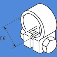1320220A - Udstød. spændebånd/rustfrit 26 - 28 mm.