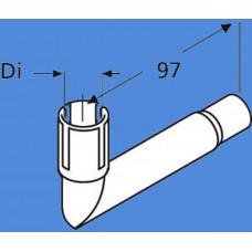 1320383A - Udstød. vinkel 24mm uden kondensafløb.