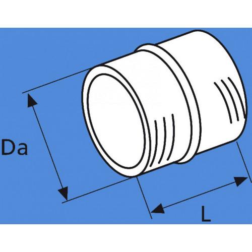1319476A - Slangesamler til luft udvendig Ø80 mm.