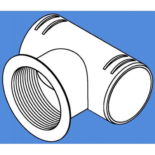 1320475A - T-rør mont. indblæs. ventil 90/60/90mm.