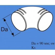 1320706A - 90 grader bøjning 90 mm. / 90 mm.
