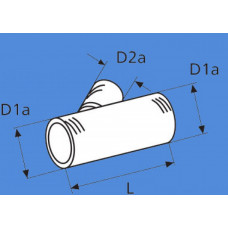 1320707A - Forgreningsstykke 90 mm./90 mm./60 mm.