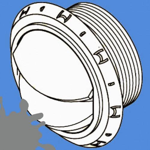 1320714A - Grå udblæs. ventil lukbar/rør ø90 mm.