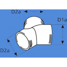 1320814A - Y-stykke / fordeler 60mm./ 60mm./ 60mm.