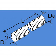 1321602C - Varmebeskyt. Flexrør/udstød.ø45mm.L20m.