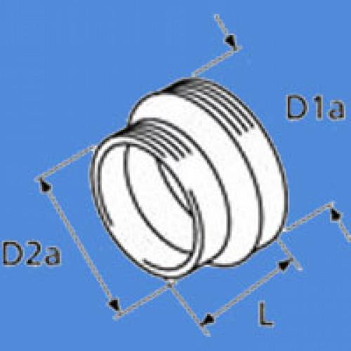1320760A - Reducer til varm luftrør fra ø90-60mm.
