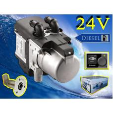 9028080D Webasto Thermo Pro 50 Eco Marine diesel 24 volt 5 kw. bådvarmer fyr Kompletsæt.