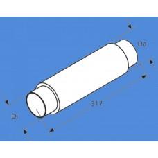 1320996A - Ind/ud-sugnings lyddæmper til Ø90 mm.