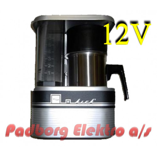 Kaffemaskine Kirk KM6 En 6-koppers >>Bemærk 12 volt DC<< kaffebrygger.