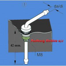 221000201500 - Tank dyk rør Kort 42mm. til tanke.