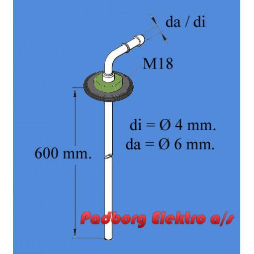 251156300000 - Tank dyk rør - 600mm. langt.  diØ4mm./daØ6mm.