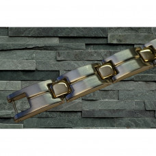 Magnetarmbånd D007 XLT-18 Stål og Guld