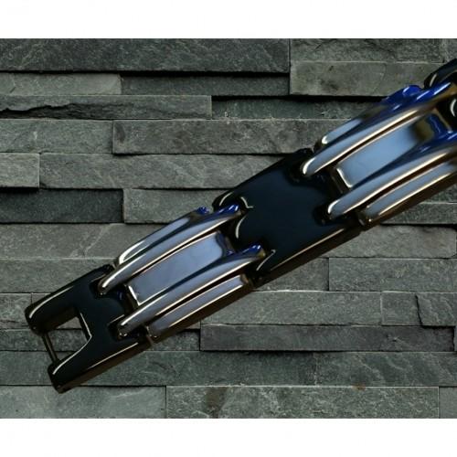 Magnetarmbånd D007 XLT-22 Sort og Sølv