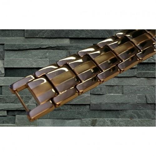 Magnetarmbånd D007 XLT-505 Sølv med bronce i midten