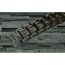 Magnetarmbånd D007 XLT-505 Titanium med bronce i midten