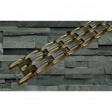 Magnetarmbånd D007 XLT-617 Guld med Sølv i midten
