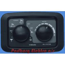 """Manuel kontrol panel Dual Top Evo """"Autocamper/RV MODEL."""" Inkl. komplet monteringssæt."""