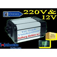 Webasto Dual Top Evo 8 integrerede Diesel vand & luft varmer sæt 12 volt 6 kw. og til strøm med elektrisk spole 2 kw. Til Camper med TRYK pumpe vandsystemer.