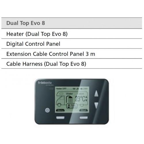 webasto dual top evo 8 integrerede diesel vand luft. Black Bedroom Furniture Sets. Home Design Ideas