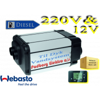 Webasto Dual Top Evo 8 integrerede Diesel vand & luft varmer sæt 12 volt 6 kw. og til strøm med elektrisk spole 2 kw. Til Camper med DYK pumpe vandsystemer.