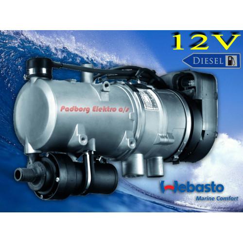 Webasto Thermo Pro 90 Marine 12v Diesel Båd vandvarmer Kompletsæt 9029940A