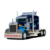 TOMTOM TRUCKER 6000 med en 6 Tommer Skærm og Lifetime traffic og kort med hele Europa.