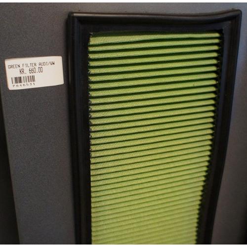 Green Cotton Air Filter - P646531 GREEN FILTER AUDI / VW / SEAT.